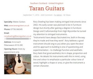 Tarran guitars entry