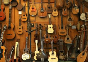 wall of instruments