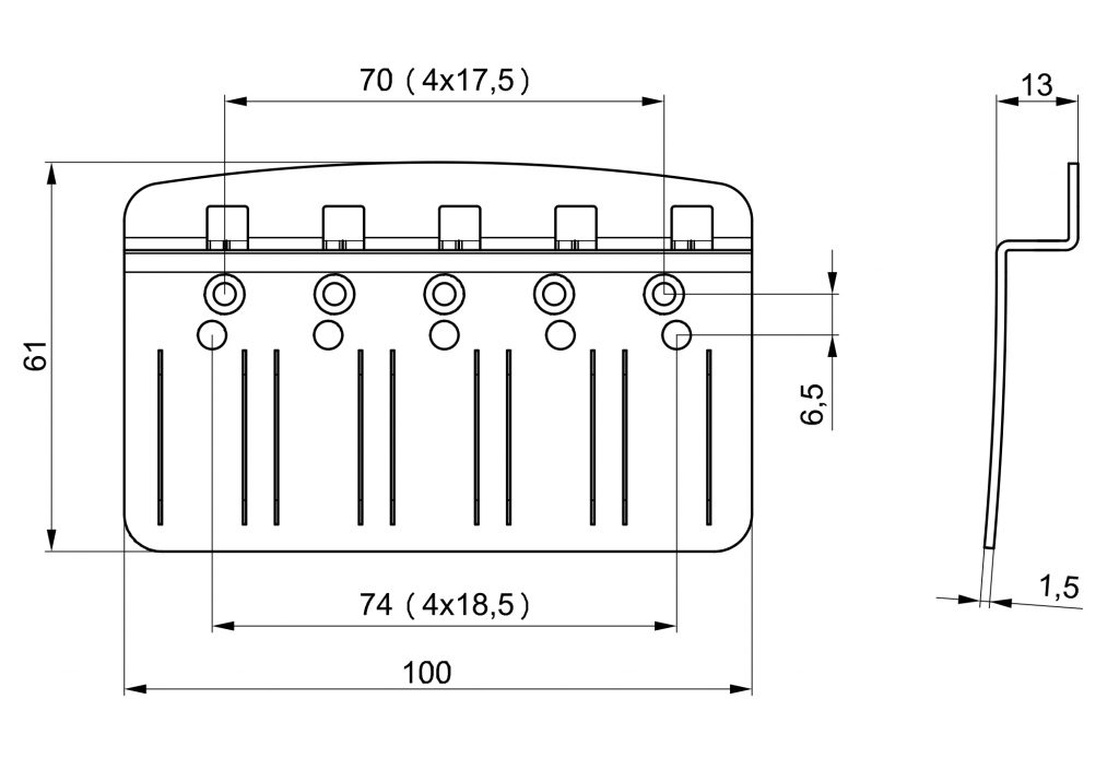 Tone Up 3D Bass Bridge Diagram
