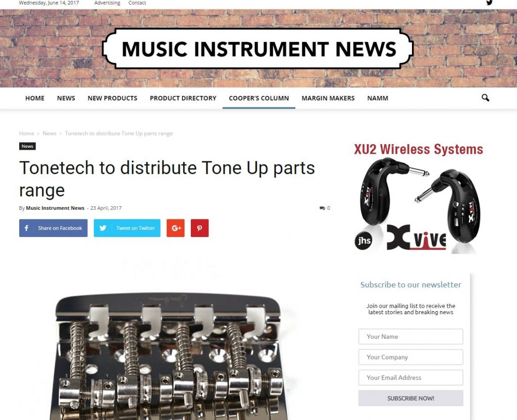 Music Industry News covers ToneUp Bass Bridge