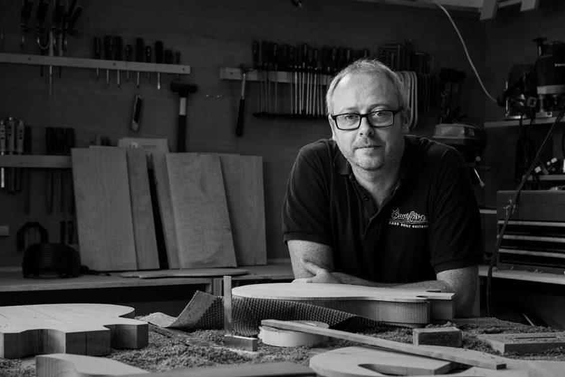 James Collins in his Workshop