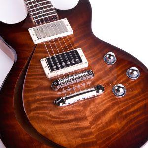 Redwood Crescent F Hole Guitar