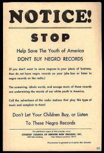 Racist notice