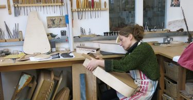 Claire Dugué, Hurdy Gurdy Luthier