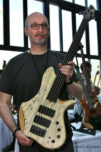 Alan Cringean with his bass